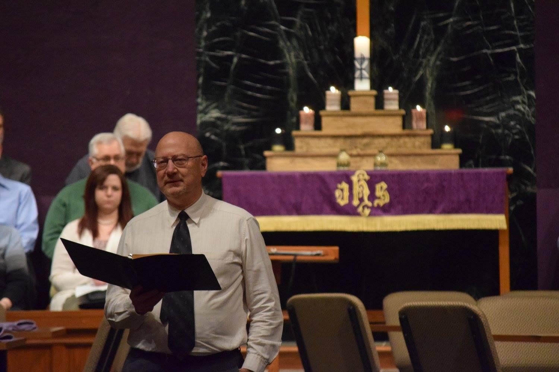 Pastor Monahan preaching